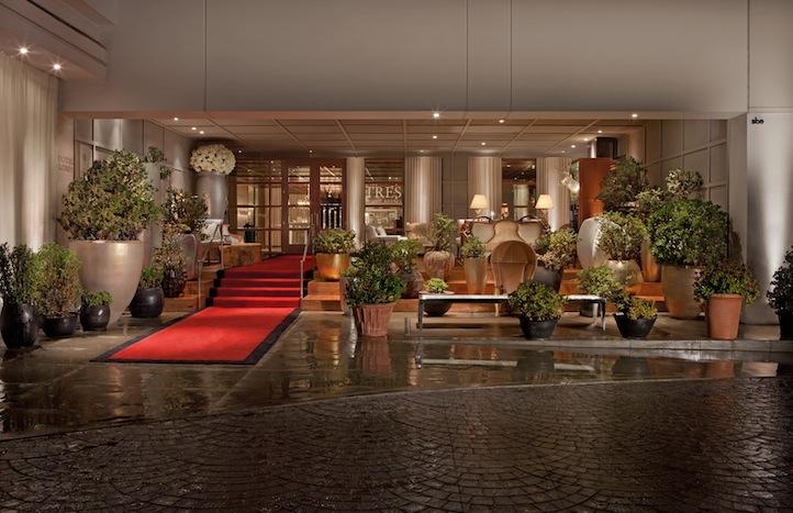 Hotel entrance, SLS Beverly Hills