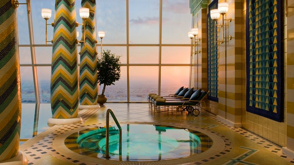 The best hotel in the world burj al arab dubai the lux for Pool and spa show dubai