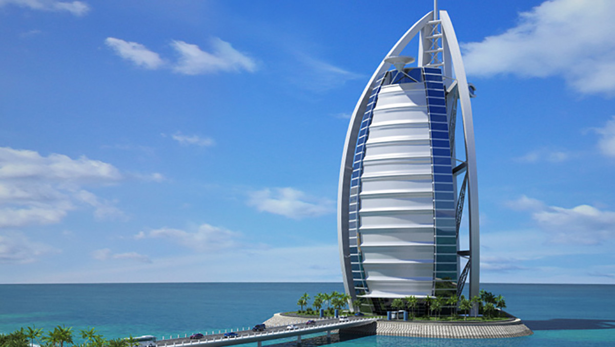 The best hotel in the world burj al arab dubai the lux for Dubai famous hotel