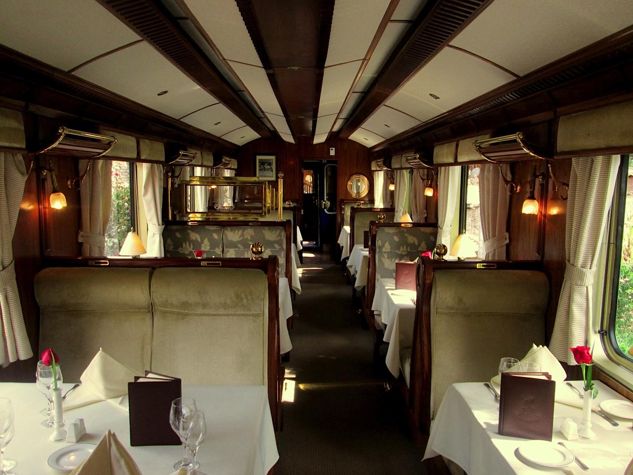 The Hiram Bingham Train Dining Car