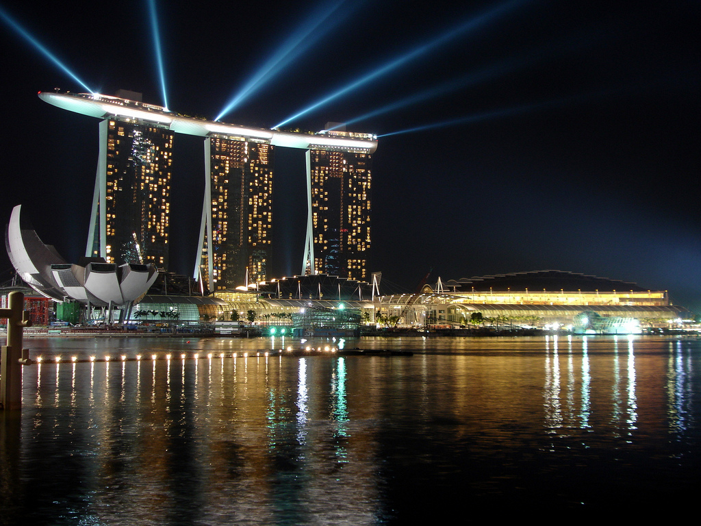 Marina Bay Area & Marina Bay Sands Hotel