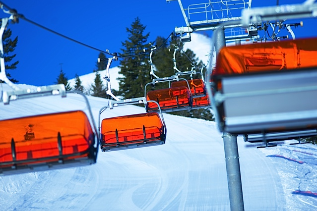 Canyons Resort's Orange Bubble Chair is heated