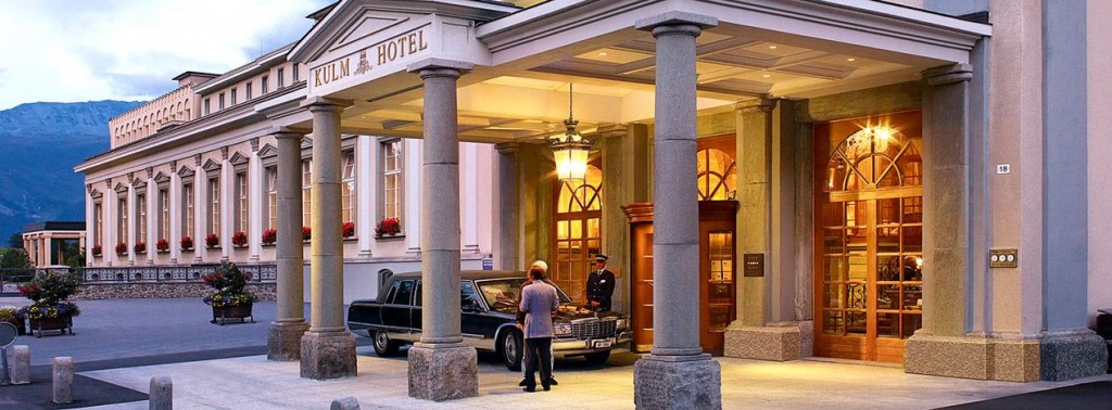 Kulm Hotel St Moritz Entrance