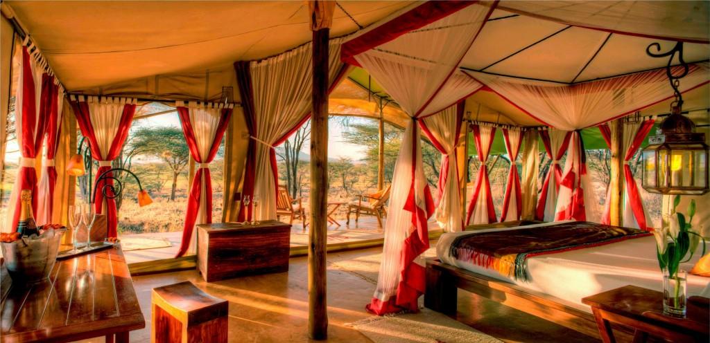 Joy's Camp - Tent Interior - Red Design