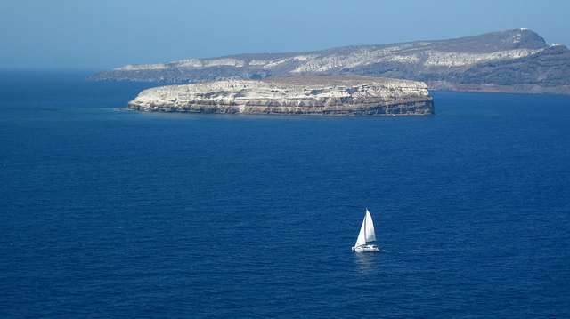 Sailing in Santorini