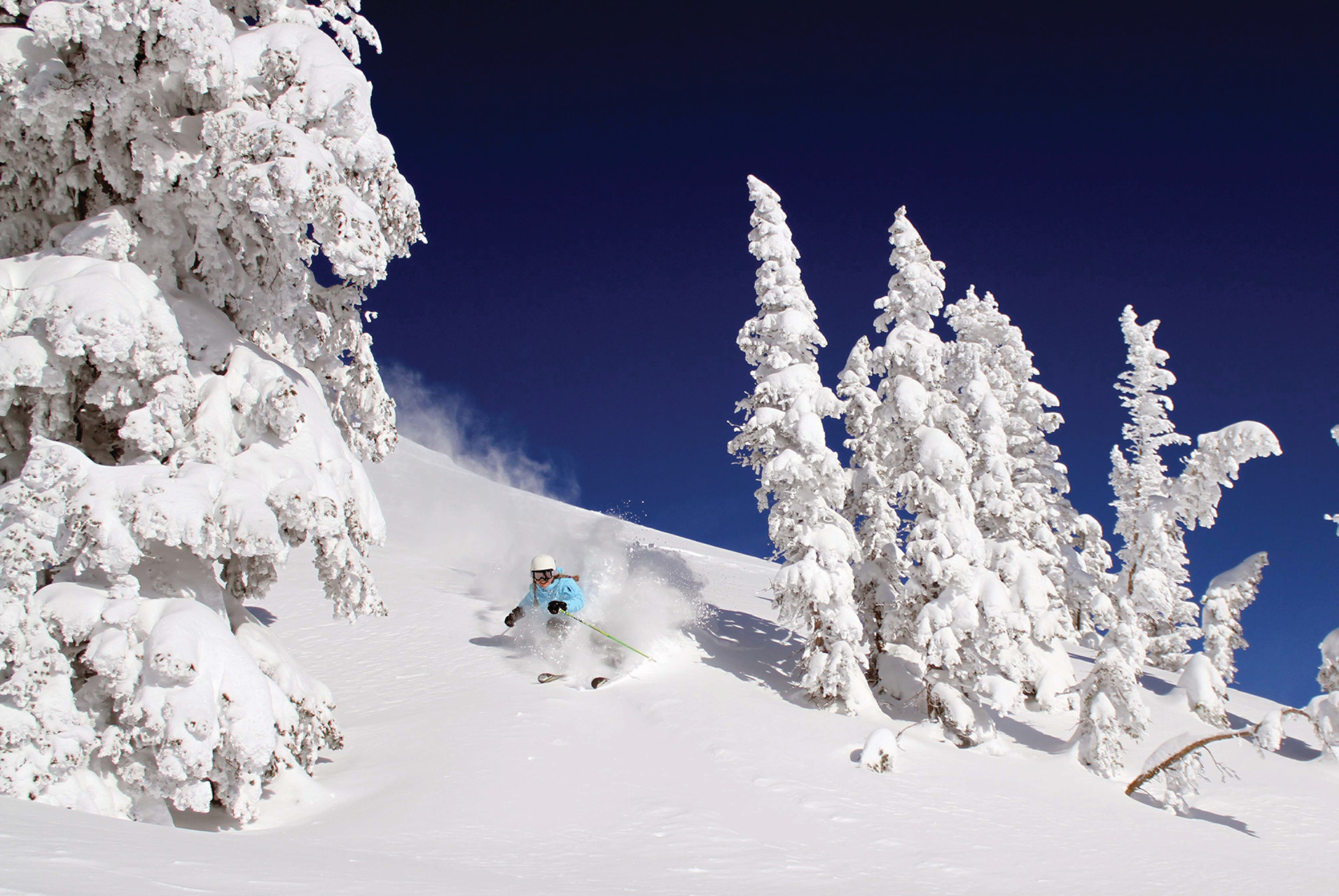 Skiing in Jackson's Hole, Wyoming USA