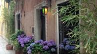 Entrance to Novecento Hotel, Venice, Italy