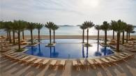 beautiful pools at the Fairmont The Palm, Dubai UAE