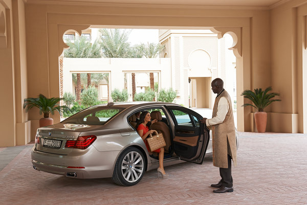 Stylish arrival at Fairmont The Palm