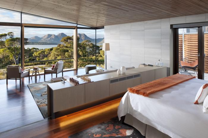 Our suite at Saffire Freycinet, Tasmania, Australia