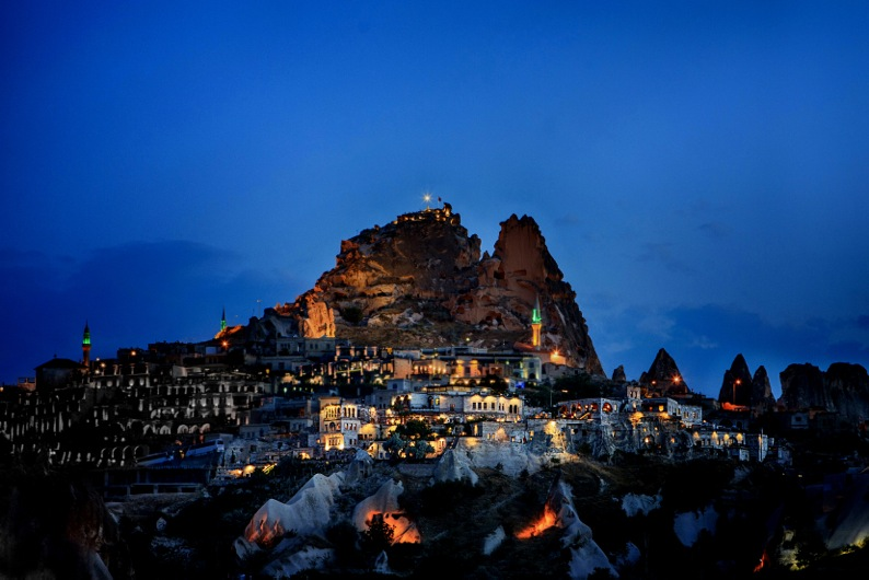 Cappodocia at night, Turkey