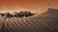 camels-sunrise-Bab-Al-Shams