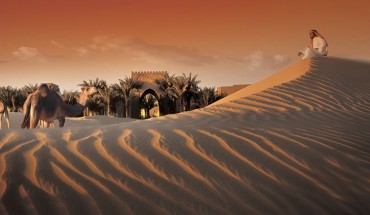 camels-sunrise-Bab-Al-Shams