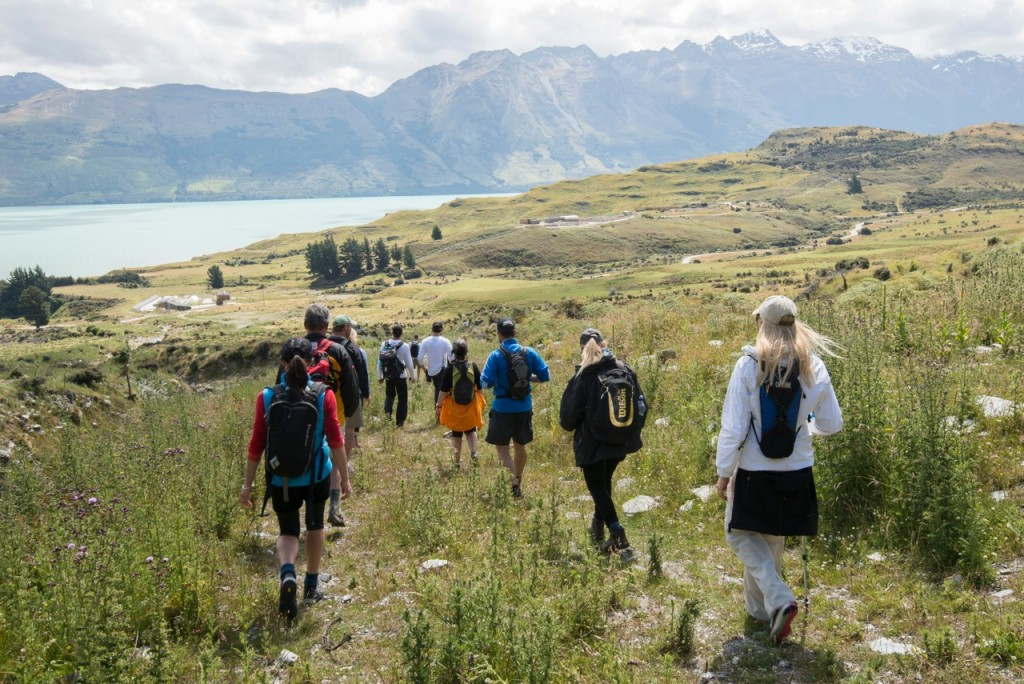 Hiking is a daily activity at Aro Ha retreat, New Zealand