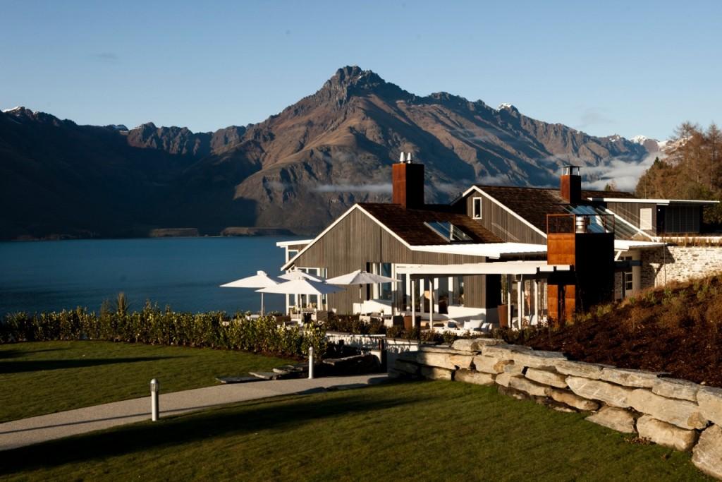 Magical setting of Matakauri Lodge, South Island, New Zealand