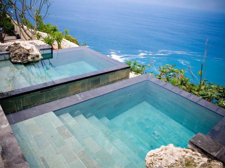 Hot & cold plunge pools, Bulgari Resort Bali