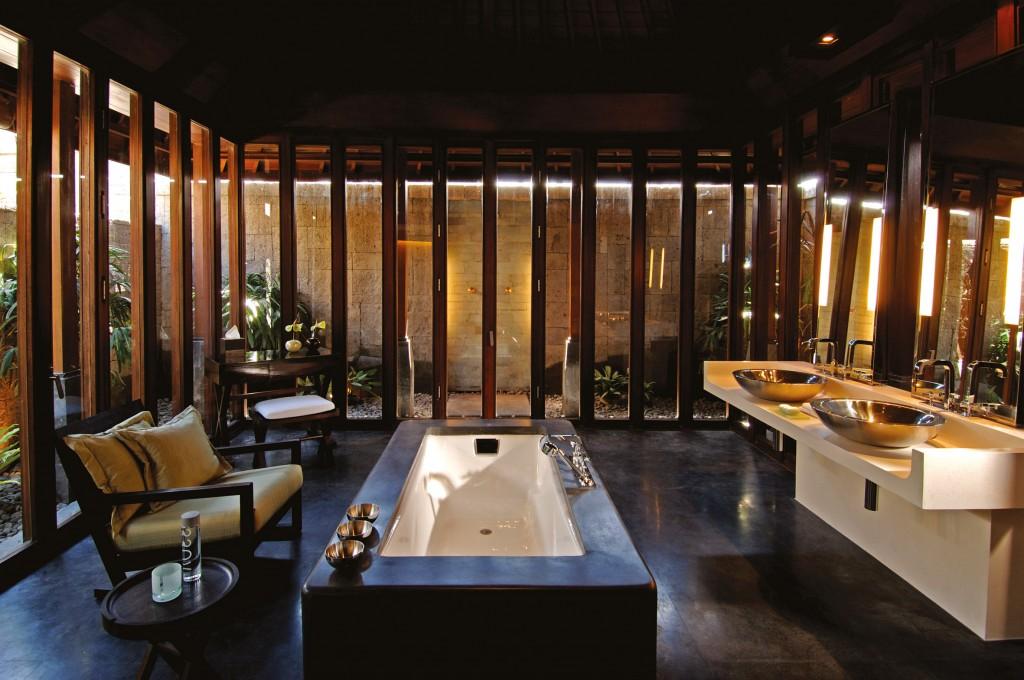Bathroom in the one bedroom villa, Bulgari Resort, Bali