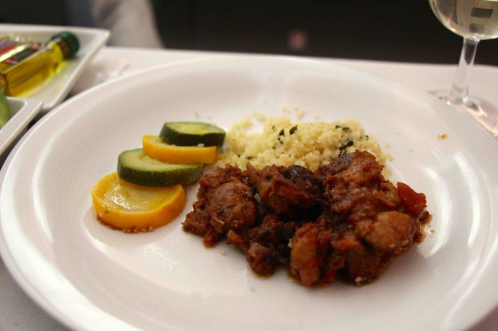 Dinner in Business Class, LOT Airlines