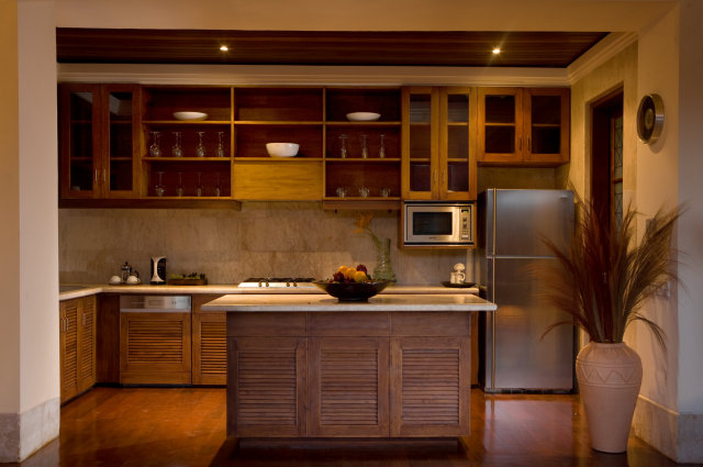 Full kitchen at our villa in Karma Jimbaran, Bali