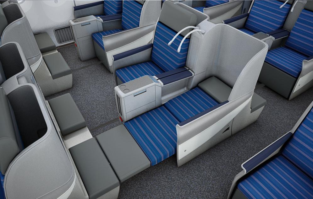 LOT Dreamliner Business Class cabin