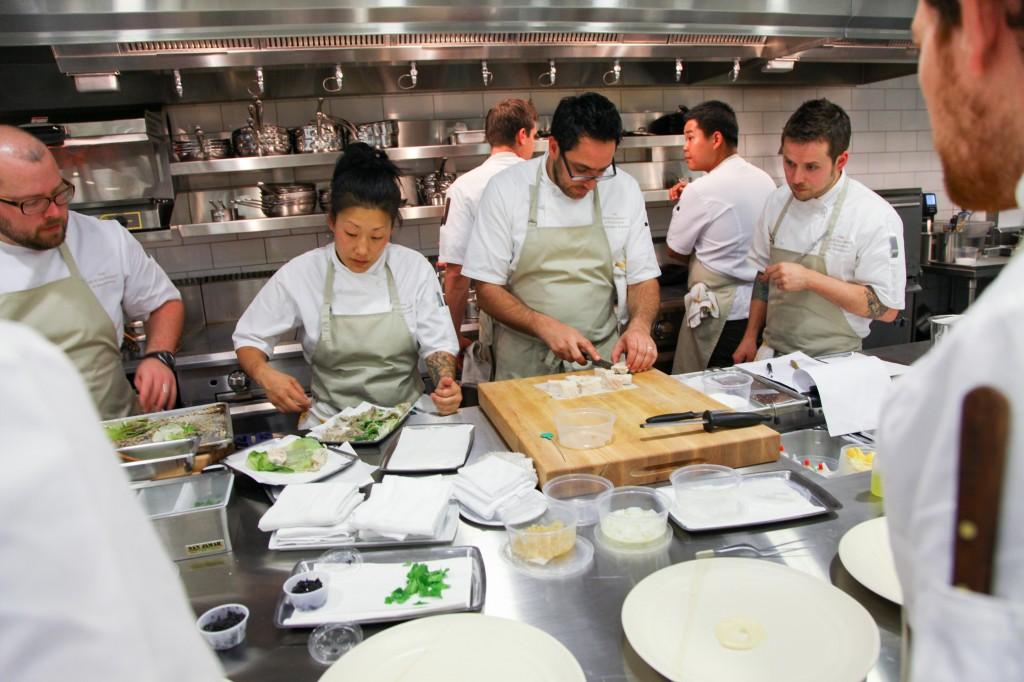 Chef at work, Meadowood Resort Napa Valley