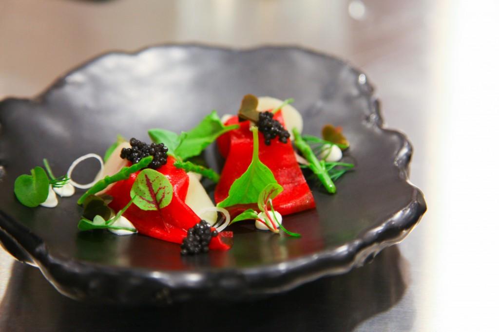 Chef's gourmet creations, Meadowood Resort Napa Valley