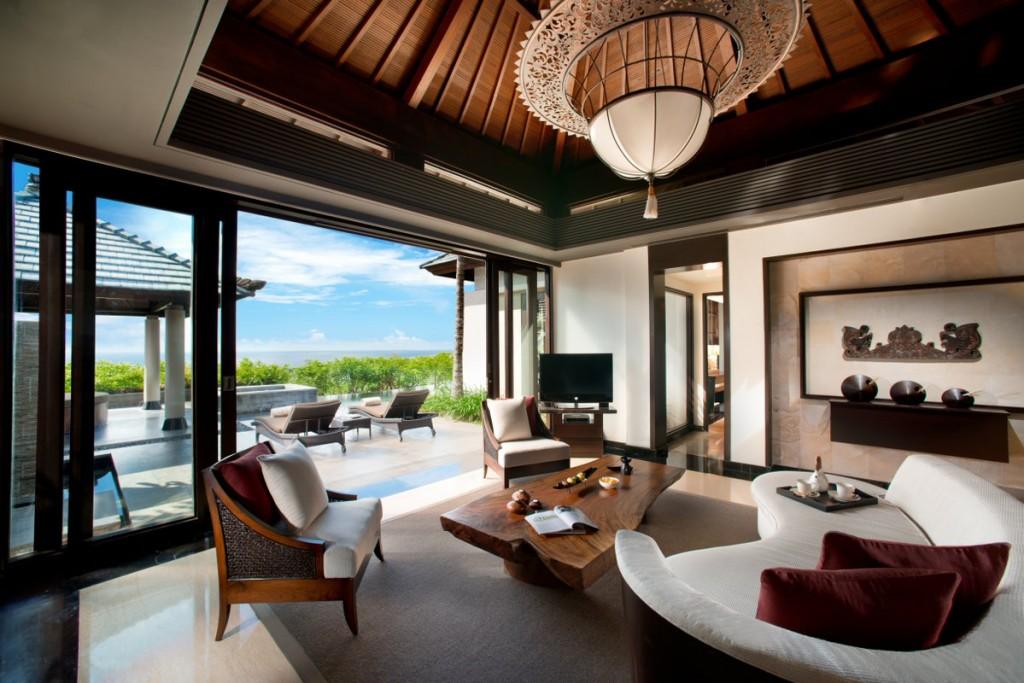 Pool Villa Sea view_interior living room