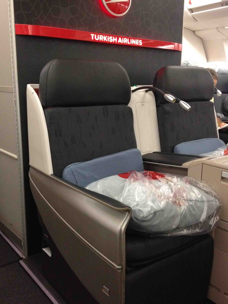 Turkish Airlines seat in Business Class, NY-Istanbul
