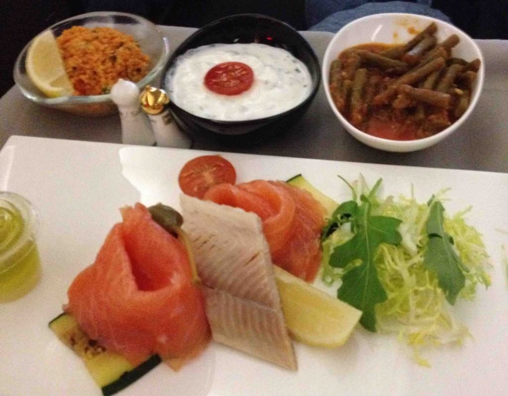 Mezze & appetizer on Turkish Airlines Business class service