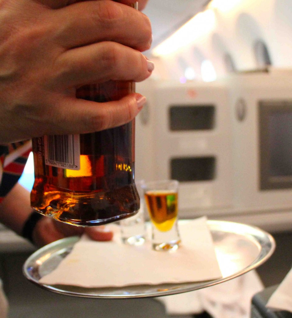 Polish vodka on LOT Airline Business Class service