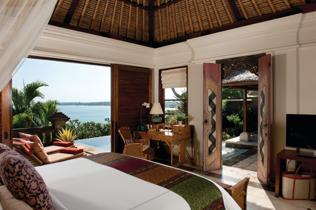 Bedroom with a view at Four Seasons Jimbaran, Bali