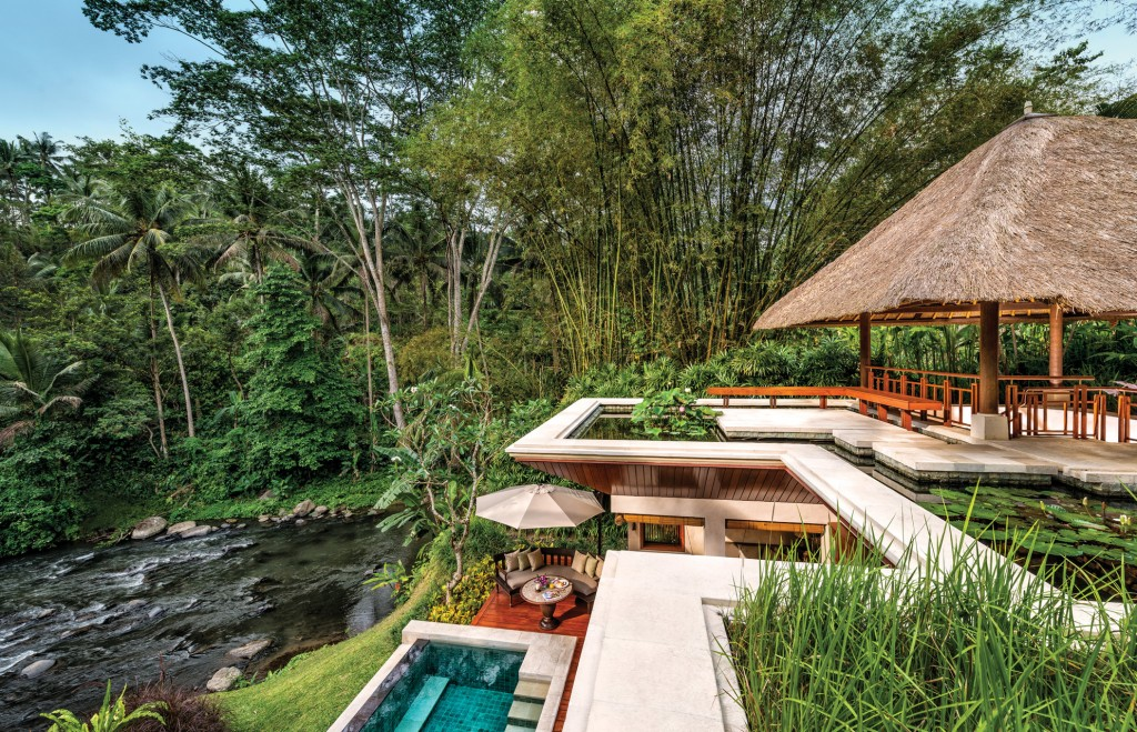 Luxury riverside villa at Four Seasons Sayan, Bali