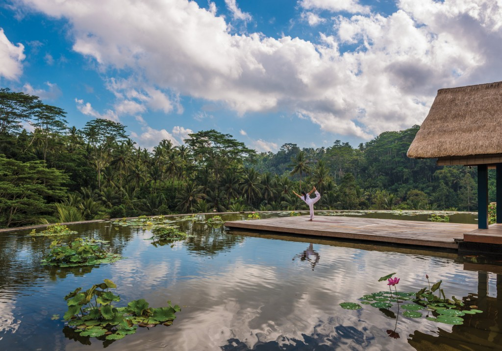 Morning Yoga at Four Seasons Sayan, Bali