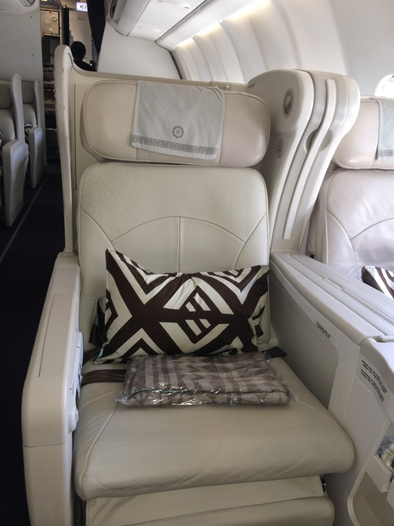 Business class seat on A330, Fiji Airways
