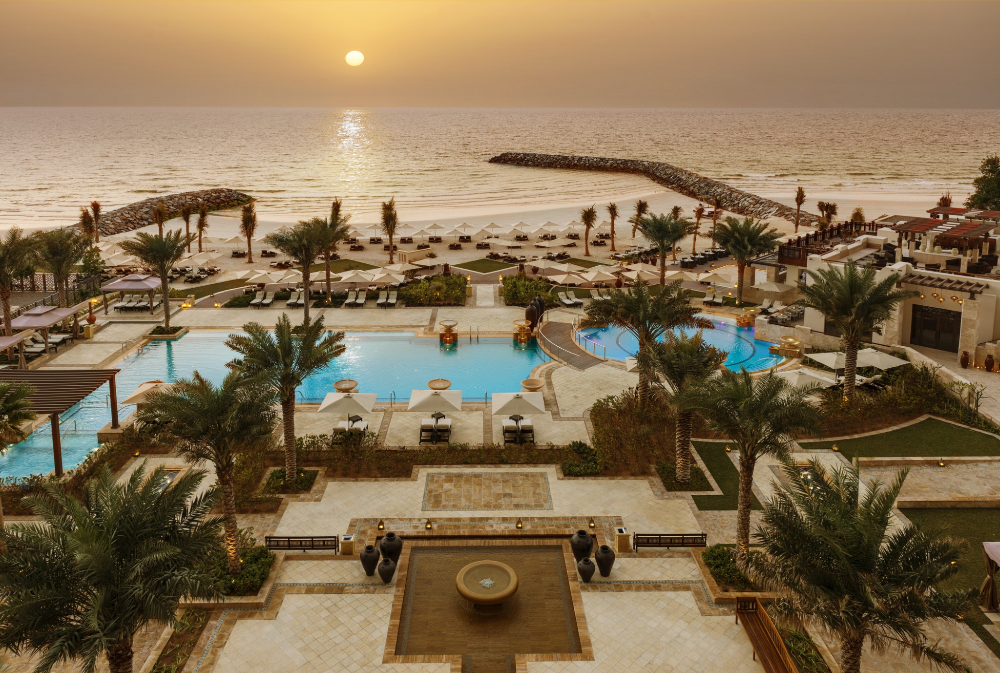 Ajman-view from the Room - Sunset