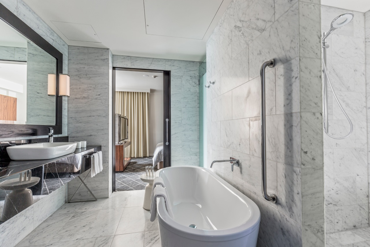 Bathroom at the Skyline Suite, Swissotel Sydney, Australia