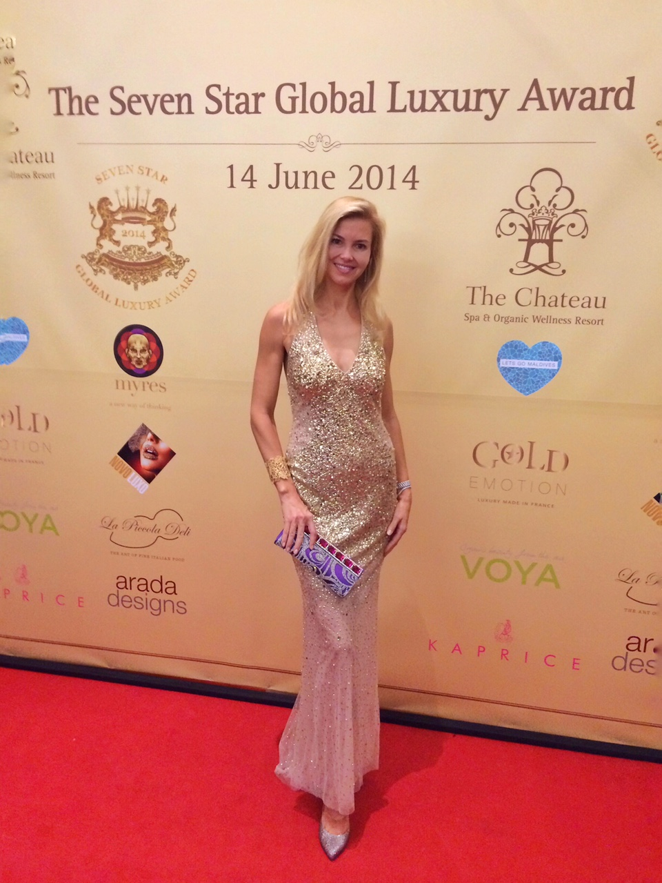 The Lux Traveller at The Seven Star Global Luxury Award in 2014