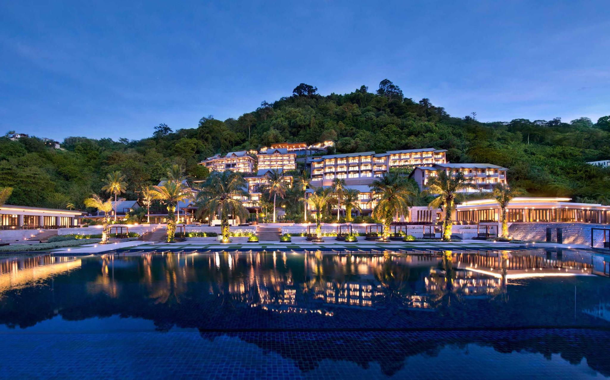 Hyatt Regency Phuket at night