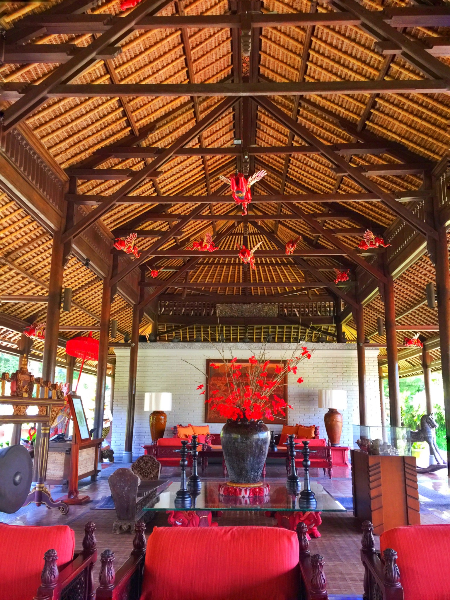 Welcoming lobby at The Chedi Ubud