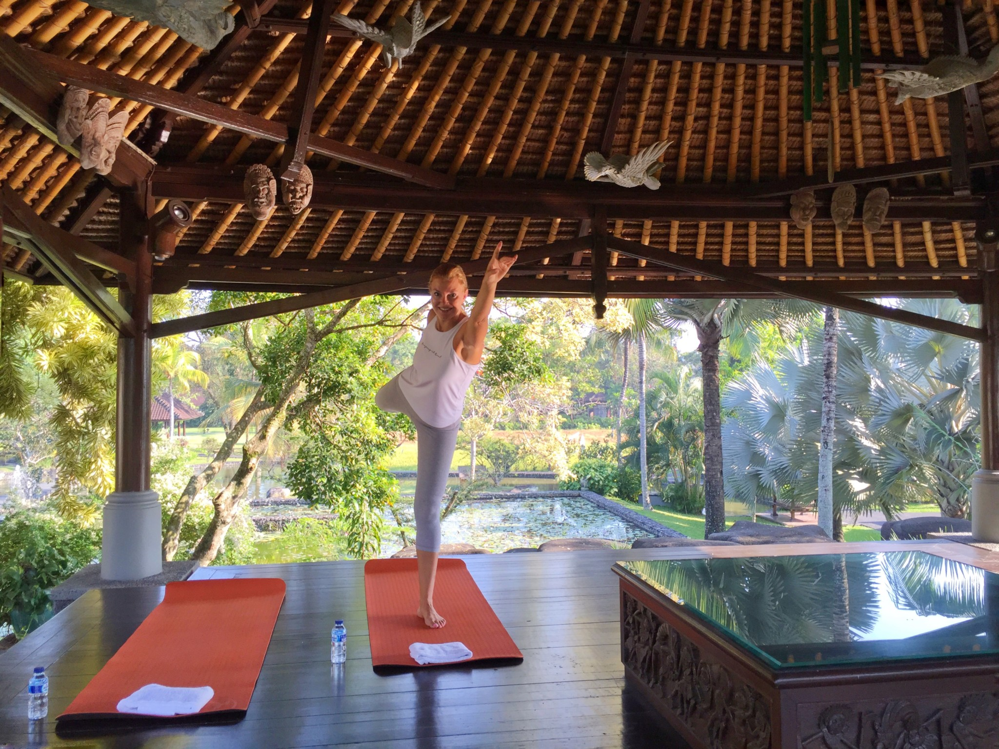Daily yoga classes at The Chedi Ubud
