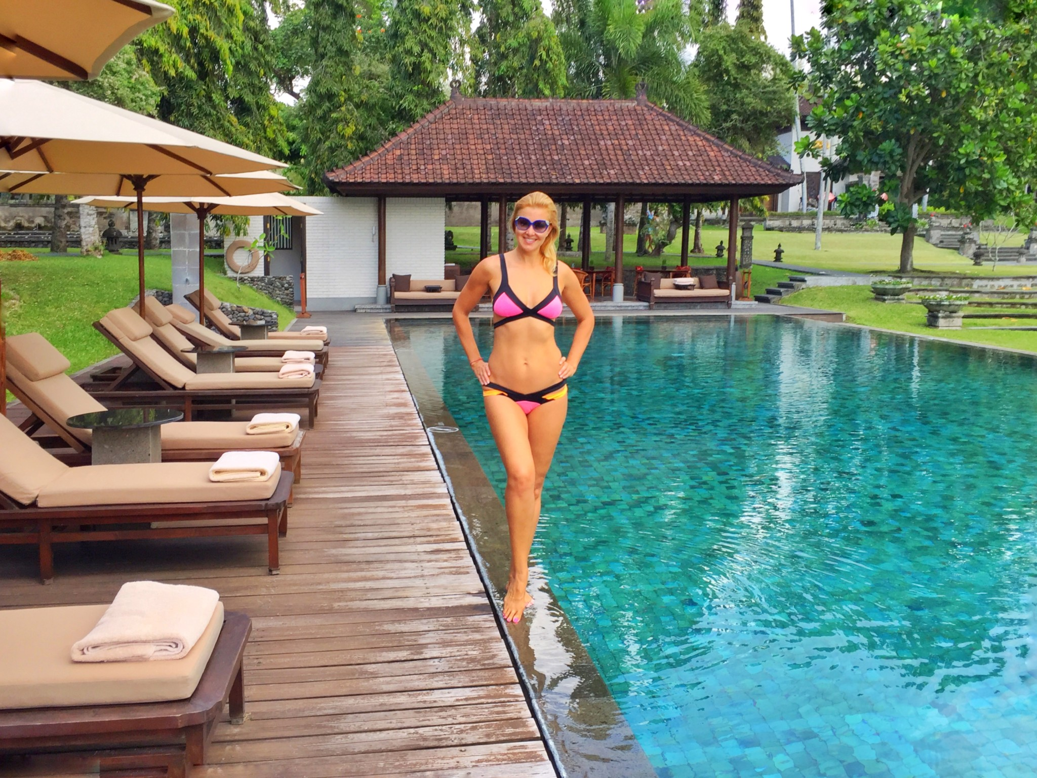 Poolside at The Chedi Ubud