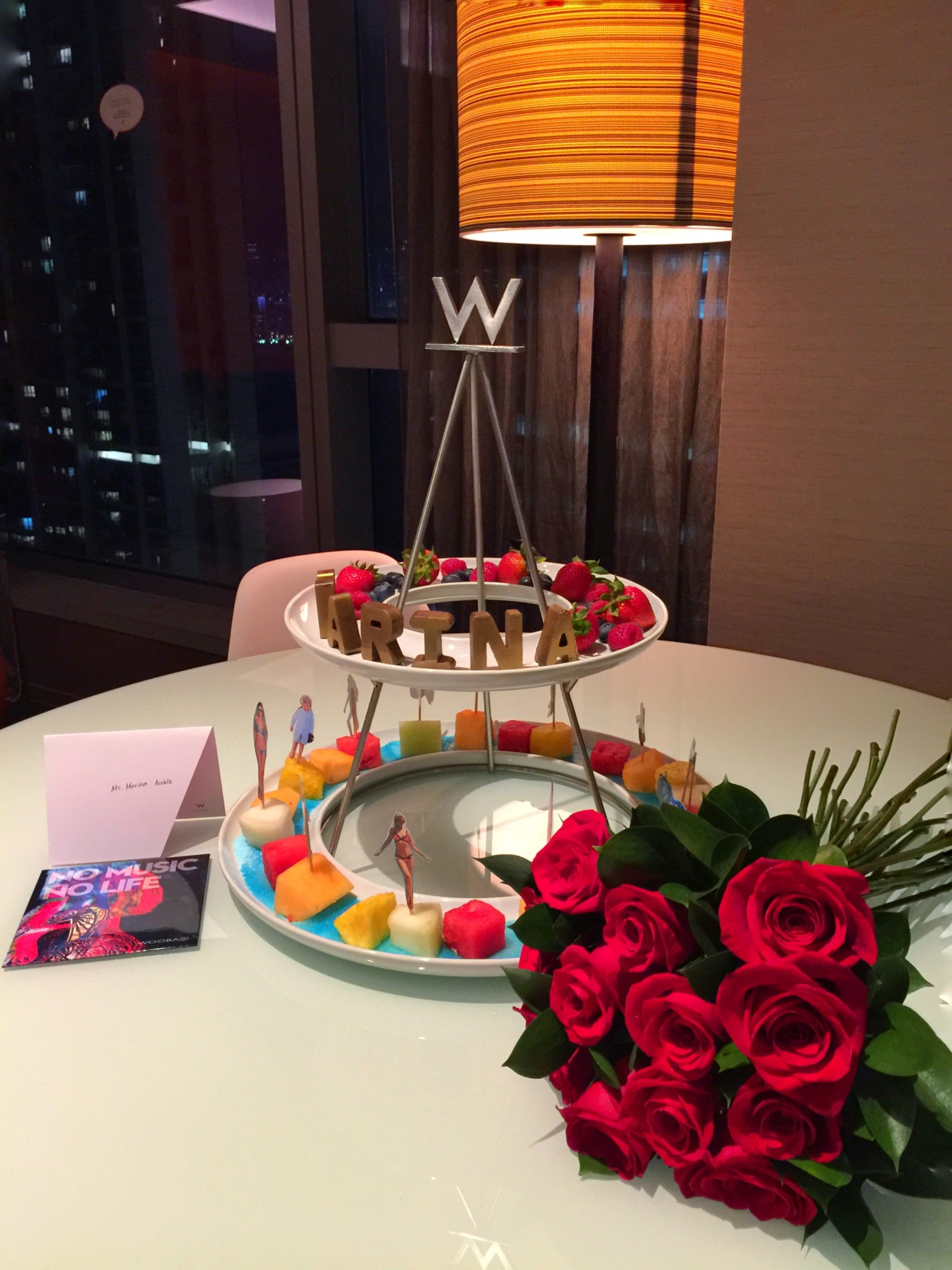 Warm welcome at W Hong Kong