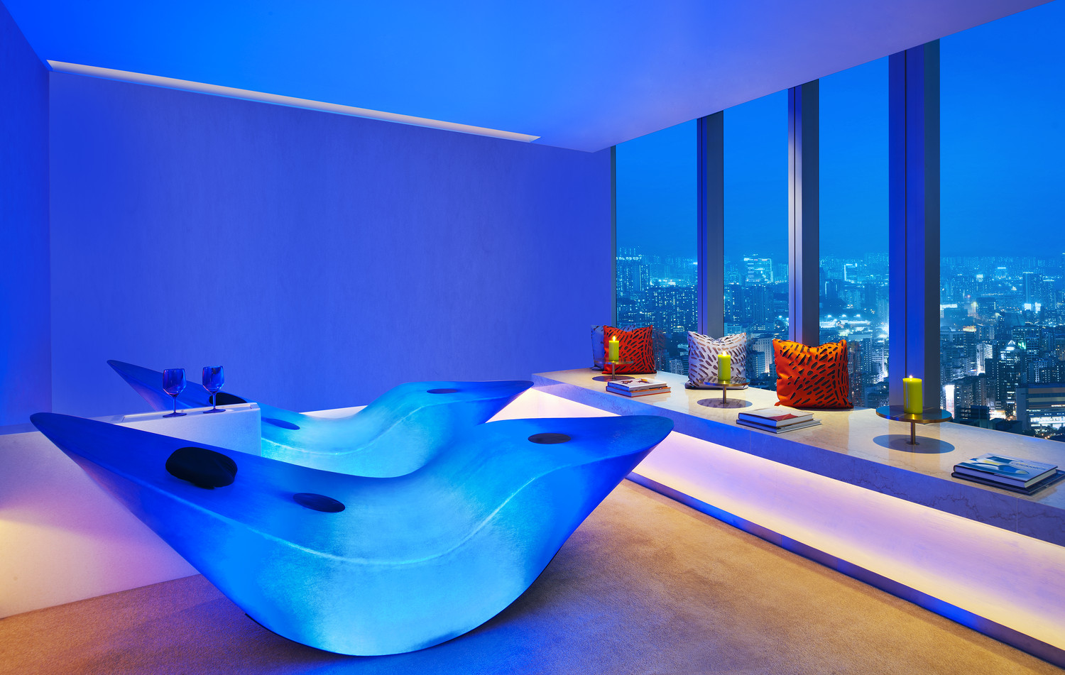 Relaxing at the Bliss Spa in W Hong Kong
