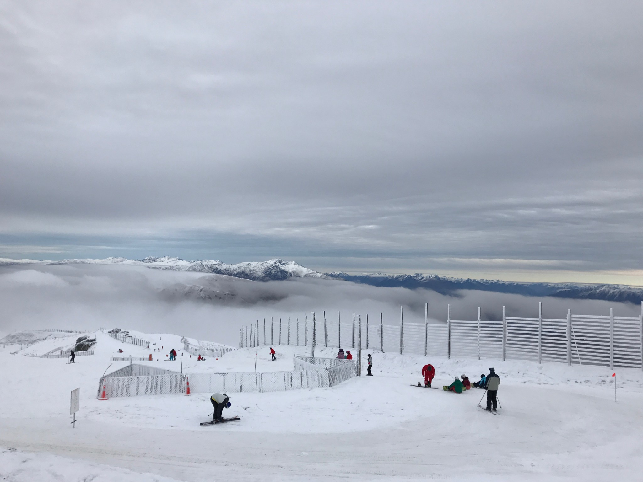 Perfect setting for a day of skiing at Cardrona