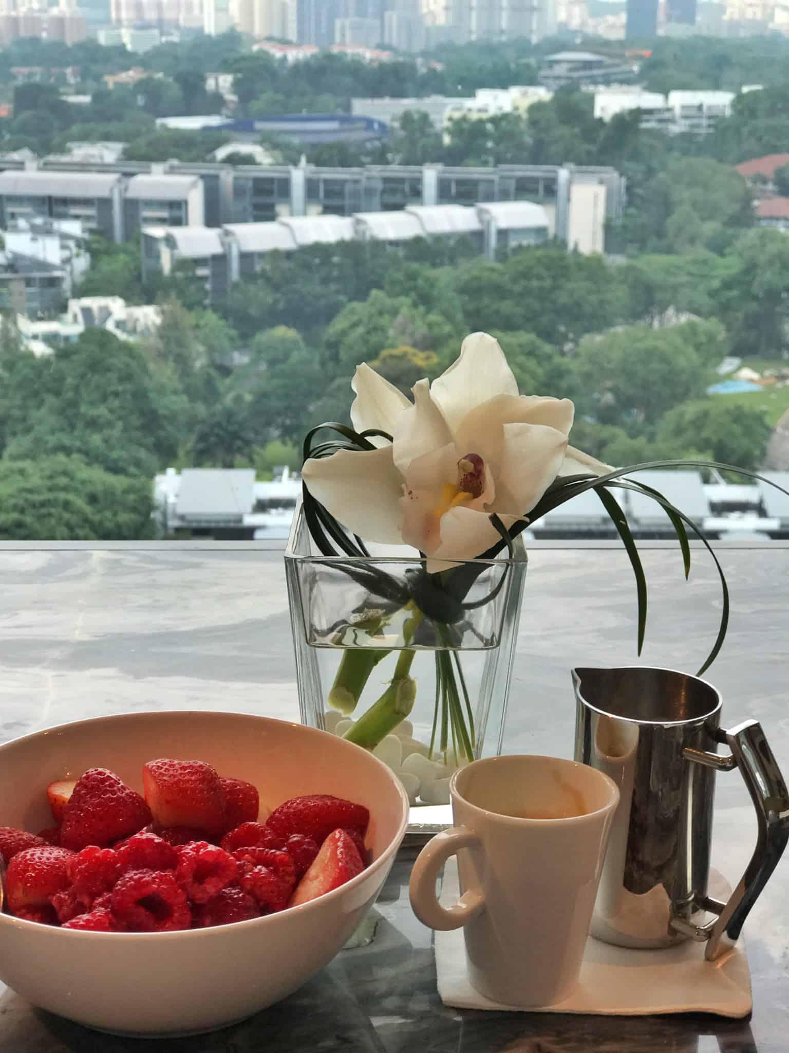 Club breakfast at Shangri-La Singapore